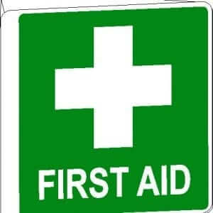 First Aid Signs Wall Poly